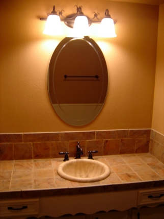 Bathroom Vanities Dallas on The 2nd Bathroom Tiled Countertop Stone Sink The 3rd Bathroom With The